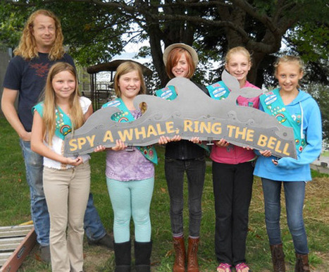 Girl Scouts debut new whale-watching sign in Langley - South Whidbey Record | Girl Scouts of America | Scoop.it