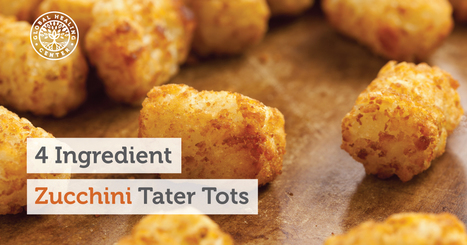 Quick Superfood Recipes: 4 Ingredient Zucchini Tater Tots | Vegan going mainstream | Scoop.it