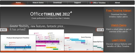 Office Timeline2012 - Create Beautiful Timelines | iEduc | Scoop.it