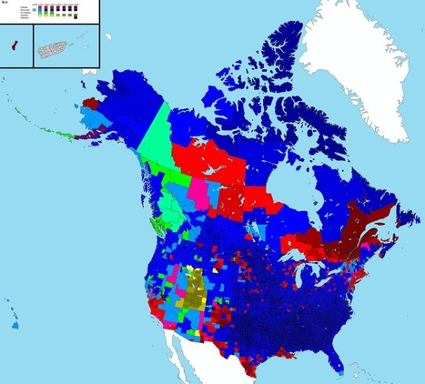 Religion by county in USA and Canada | M@pping the World | Scoop.it