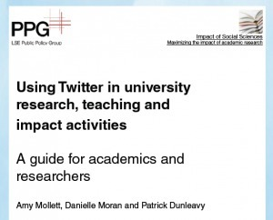 Great Twitter guide for university research, teaching and impact activities fromLSE   Education Research   Scoop.it