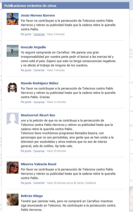 Los internautas invaden los muros de marcas como L'Oreal, Trivago o Carrefour para que quiten su publicidad de Telecinco : Marketing Directo | Activism, society and multiculturalism | Scoop.it