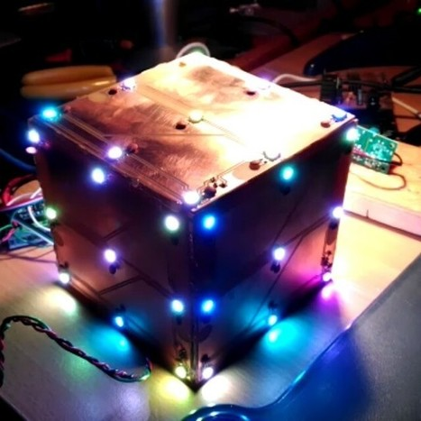 "Pablo on Instagram: ""Playing with Adafruit's neopixels, random led cube @adafruit #neopixel #led #electronics #diy #maker #arduino #cube #prototype #lamp"" 