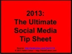 The Ultimate Social Media Tip Sheet - Heidi Cohen | Snack Size Content Marketing Strategy | Scoop.it
