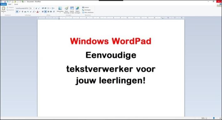 Edu-Curator: Windows WordPad: leuke simpele tekstverwerker voor jouw leerlingen! | Edu-Curator | Scoop.it