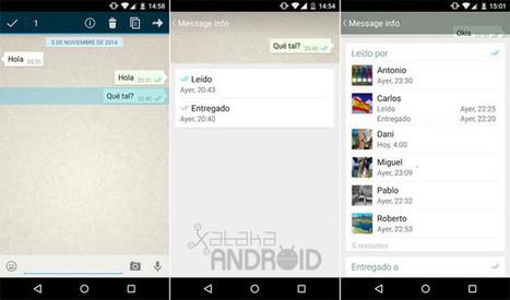 Cómo saber en WhatsApp a qué hora nuestro mensaje ha sido entregado y leído, incluso en grupos   iPhone, iPad, iOS, Nexus7, Samsung, Android,...   Scoop.it