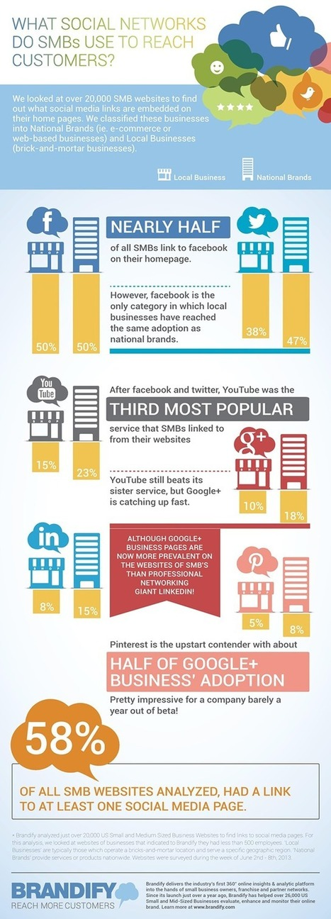Infographic of the Day: Which Social Networks are Most Popular for Small Business Owners? | Social Media | Scoop.it
