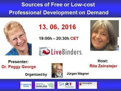 Peggy George in a Globinar on free PD resources collated in Livebinders | Moodle and Web 2.0 | Scoop.it
