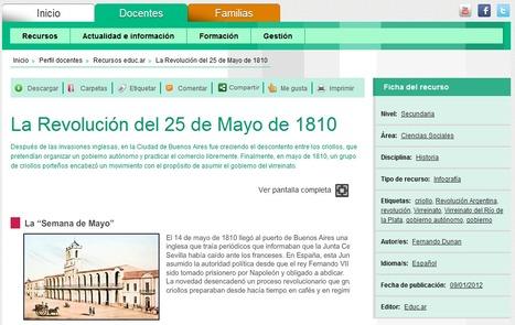 La Revolución del 25 de Mayo de 1810 - Educar | Bibliotecas Escolares Argentinas | Scoop.it