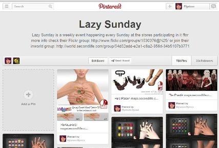 Lazy Sunday pins | 亗 Second Life Freebies Addiction & More 亗 | Scoop.it