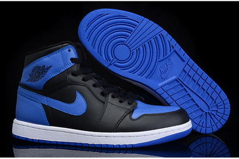 Black and Royal Blue Basketball Sneakers Releasing at Nike Jordan Ⅰ - High Shoes | my love list | Scoop.it