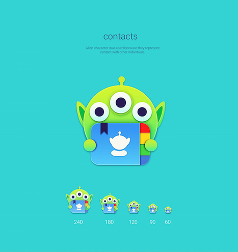 Designer transforms dull mobile app icons into cute Toy Story-themed symbols | D_sign | Scoop.it