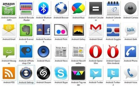 Android Icons, pack gratuito con 51 iconos de apps Android | Recull diari | Scoop.it