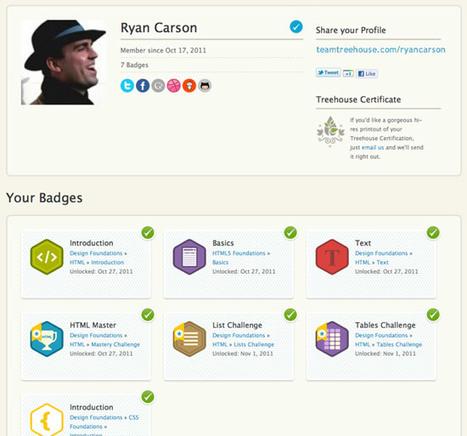 Treehouse: Using badges for web development learning   Badges for Lifelong Learning   Scoop.it