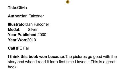 Caldecott Book - Noah C | Caldecott Medal Winning Books (Created by 3rd graders) | Scoop.it