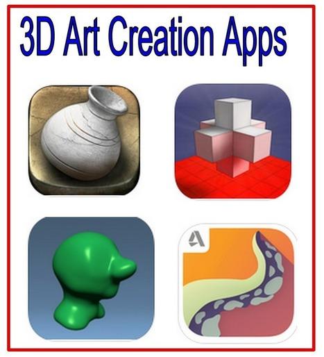 4 iPad Apps Students Can Use to Create 3D Art Models ~ Educational Technology and Mobile Learning | Teaching Art in the Digital Era | Scoop.it