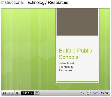 Buffalo Public Schools : Instructional Technology Resources | Buffalo Public Schools | Scoop.it