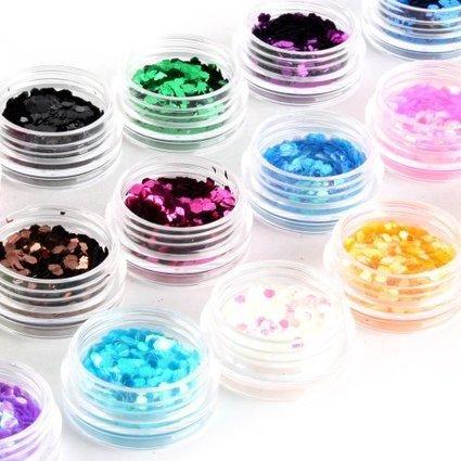 Yesurprise Fashion 18 colors nail Art Decoration Design 3D UV Gel Hexagon Shiny Glitter powder New Trendy 2013   Trendy Attitude   Scoop.it