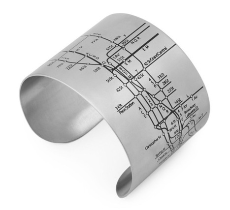 Fashionable Cuff Bracelets Embossed With Subway Maps - My Modern Metropolis   bracelets   Scoop.it