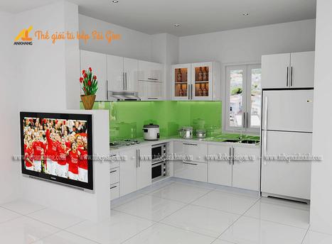 Tủ bếp gia đình chị NGA TBAK380.   bepankhanggiare   Scoop.it