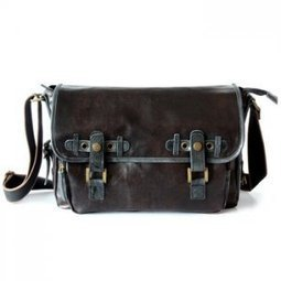 Retro dark brown waterproof messenger bags in coated canvas - $68.60 : Latest Leather Bags, Canvas Bags, Fashion Handbags | personalized canvas messenger bags and backpack | Scoop.it