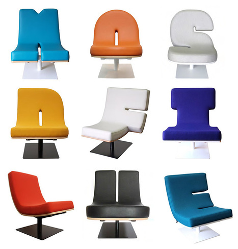 Typographic Furniture. Chairs That Talk And Lamps That Punctuate.   What Surrounds You   Scoop.it