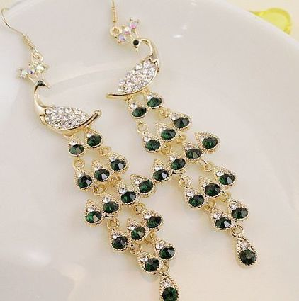 Peacock Crystal Earrings | Accessories for Fashion Women | Scoop.it