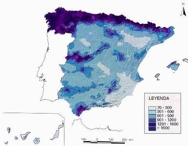 Blog d'aula de Geografia d'Espanya: Distribució de les precipitacions i temperatures. Mapes | Història en present | Scoop.it