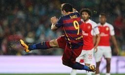 Luis Suárez acrobatics end Arsenal's unlikely resistance at Barcelona - The Guardian | AC Affairs | Scoop.it