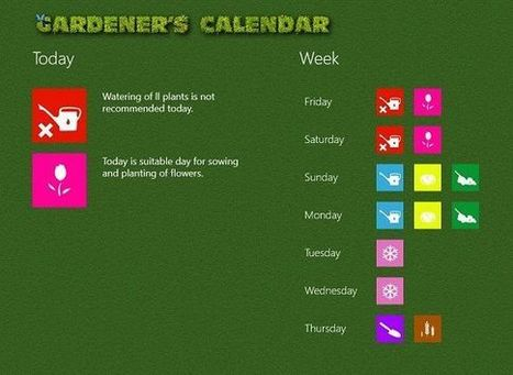 A gardener's calendar for Windows 8 | Garden apps for mobile devices | Scoop.it