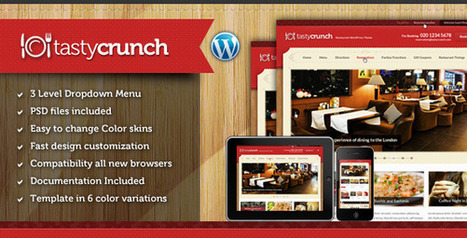 Tasty Crunch - Themeforest Food Recipe and Restaurant theme | Blogging Tips and Tricks | Scoop.it