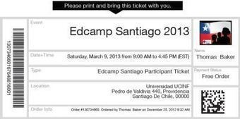 Entrada: TICKET | Unconference EdcampSantiago | Scoop.it