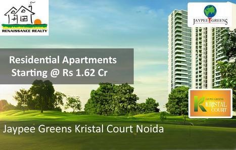 Jaypee Kristal Court Noida - 2/3 BHK Golf Course Apartments in sec-128 Jaypee wishtown Noida. | Jaypee Greens | Kristal Court Noida | Sector - 128, Noida | Scoop.it