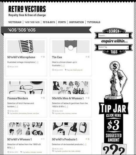 Retrovectors, una web de recursos gráficos retro gratis | Newsletter BJT | Scoop.it