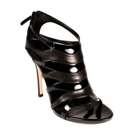 Gucci Womens Shoes Black Leather/Patent Leather Laser Cut High Heels | Wedding shoes | Scoop.it
