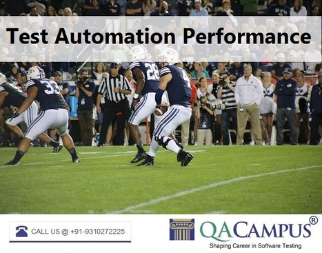 QACampus Performance-based Automation Performance Testing Training | Software Testing Training | Scoop.it