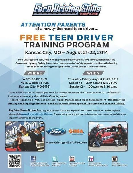 On August 21-22, Ford Motor Company will be conducting a free safe driving event... | Platte County High School | Scoop.it