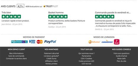 E-commerce : 4 zones stratégiques pour afficher des avis consommateurs | Les avis clients sur Internet | Scoop.it