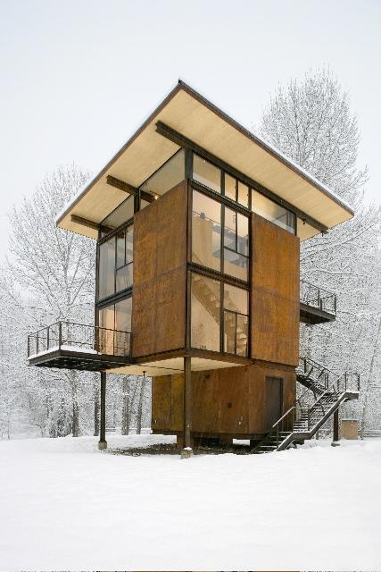 Dezeen » Tom Kundig's Delta Shelter | Rendons visibles l'architecture et les architectes | Scoop.it