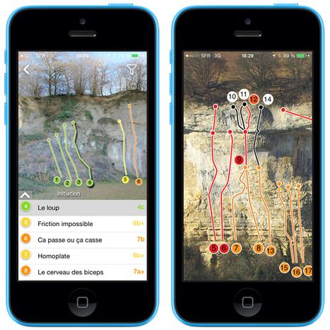 Escalade: ClimbingAway lance les topos numériques éthiques ! | Sport et environnement | Scoop.it