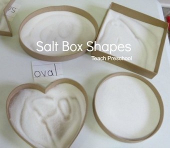 Exploring all kinds of shapes with salt box drawing | Teach Preschool | Scoop.it