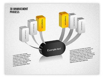 3D Management Process Flowchart | PowerPoint Diagrams, Charts, and Shapes | Scoop.it