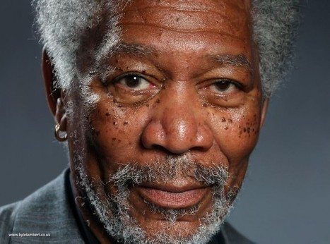 This Portrait of Morgan Freeman Is Actually a Finger Painting Done on an iPad | Strange days indeed... | Scoop.it
