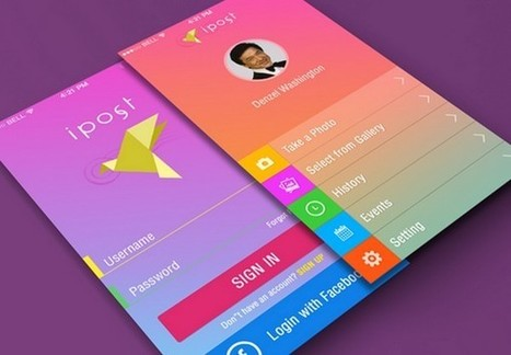 Eye-Catching Mobile App Interfaces with Sleek Gradient Effect | A design journey | Scoop.it