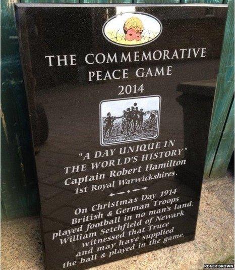 WW1 truce footballer plaque unveiled | @NewDayStarts | Scoop.it