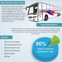 Toronto Bus Services: Parkinson Coach Lines Infographic   Visual.ly   Bus Rental Guide   Scoop.it