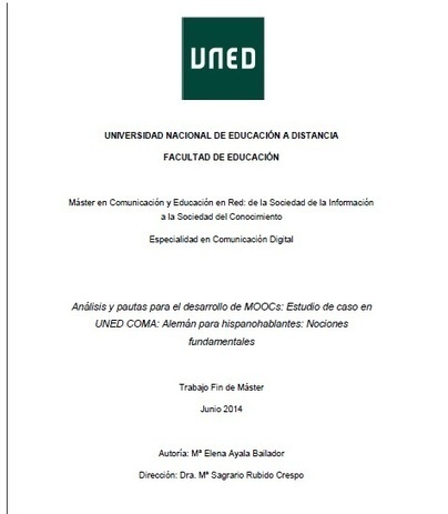 Trabajo de investigación: Análisis y pautas para el desarrollo de MOOCs   Educación, Comunicación y Redes Sociales   Scoop.it