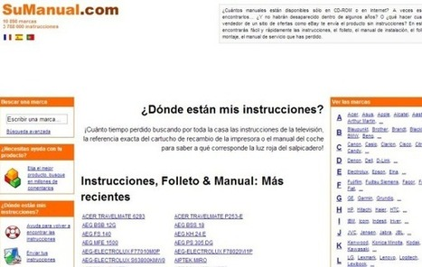 Sumanual, buscador de guías y manuales de instrucciones para todo tipo de dispositivos | Las TIC y la Educación | Scoop.it