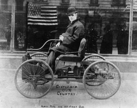 Twitter / HistoryInPics: Henry Ford poses on the first ... | Social Network for Logistics & Transport | Scoop.it
