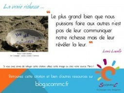 S Comm C, le blog » Blog Archive » Communiquer une richesse ? | Citations | Scoop.it